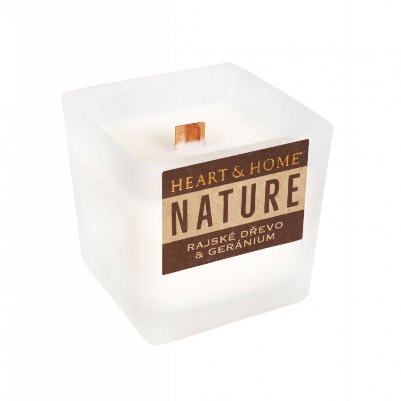 ALBI Malá svíčka - Rajské dřevo a geránium