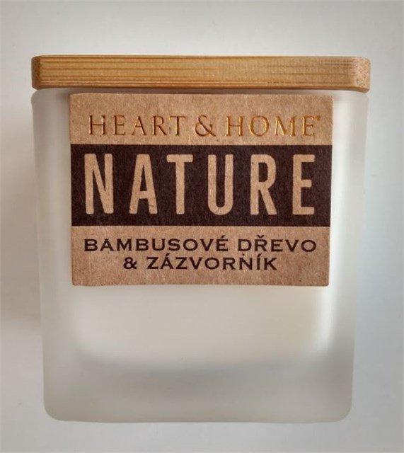 ALBI Malá svíčka - Bambusové dřevo a zázvorník