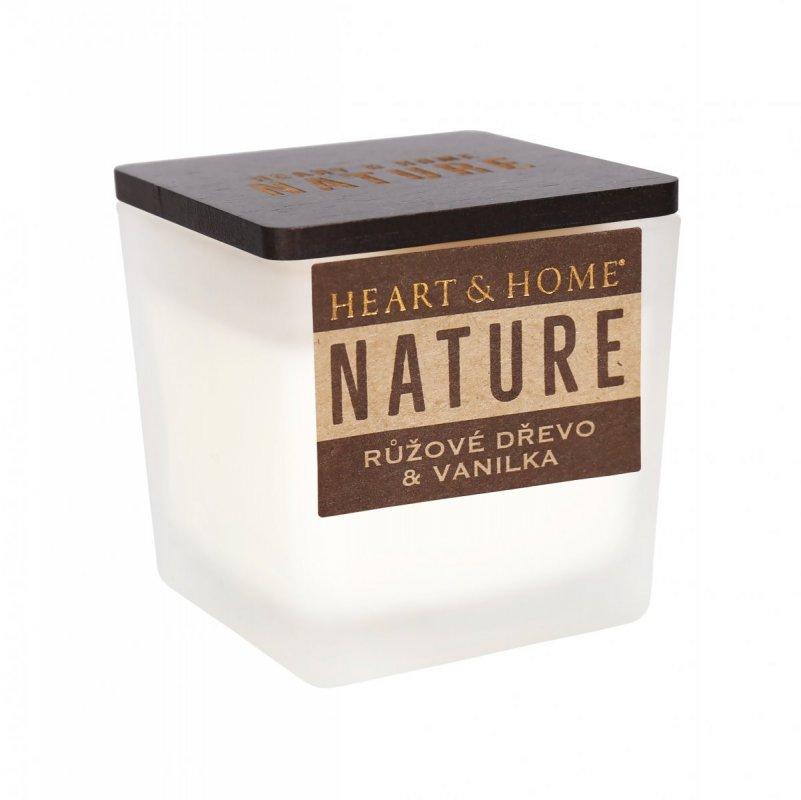 ALBI Malá svíčka - Růžové dřevo a vanilka