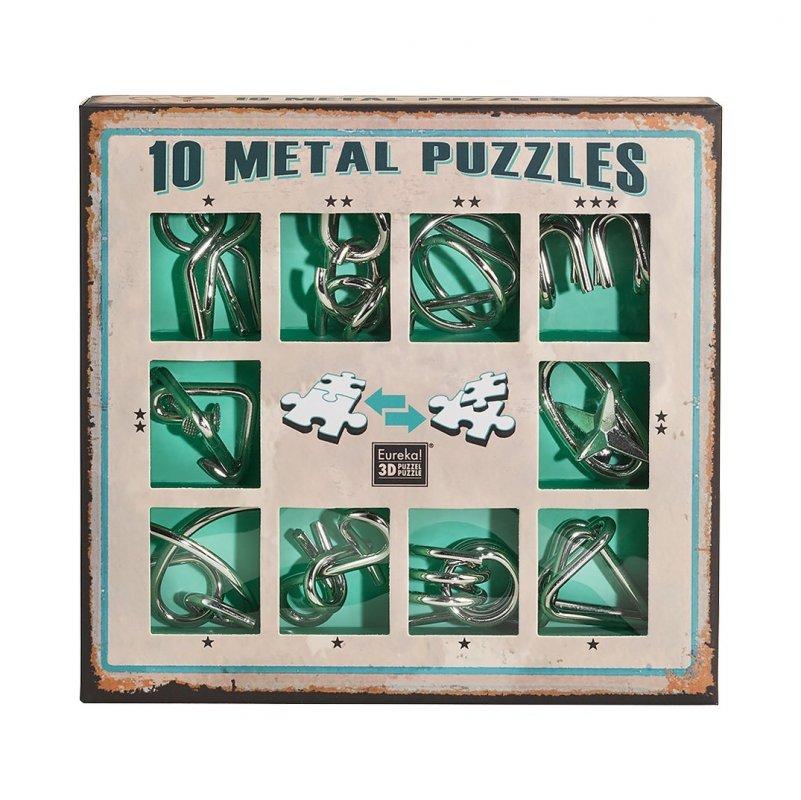 ALBI Sada 10 hlavolamů kov zelená