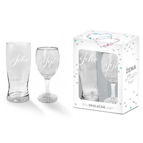 ALBI Set - sklenička a půllitr Svatba 2020