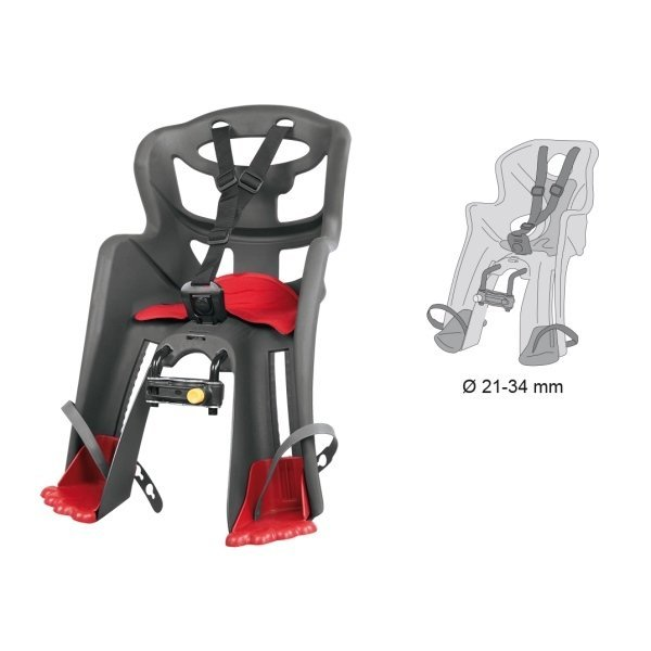 sedačka TATOO HANDLEFIX přední šedá/červený