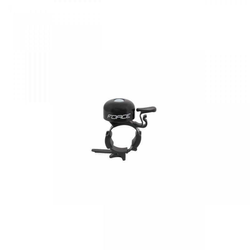 zvonek FORCE Fe/plast 22,2-31,8mm, černý