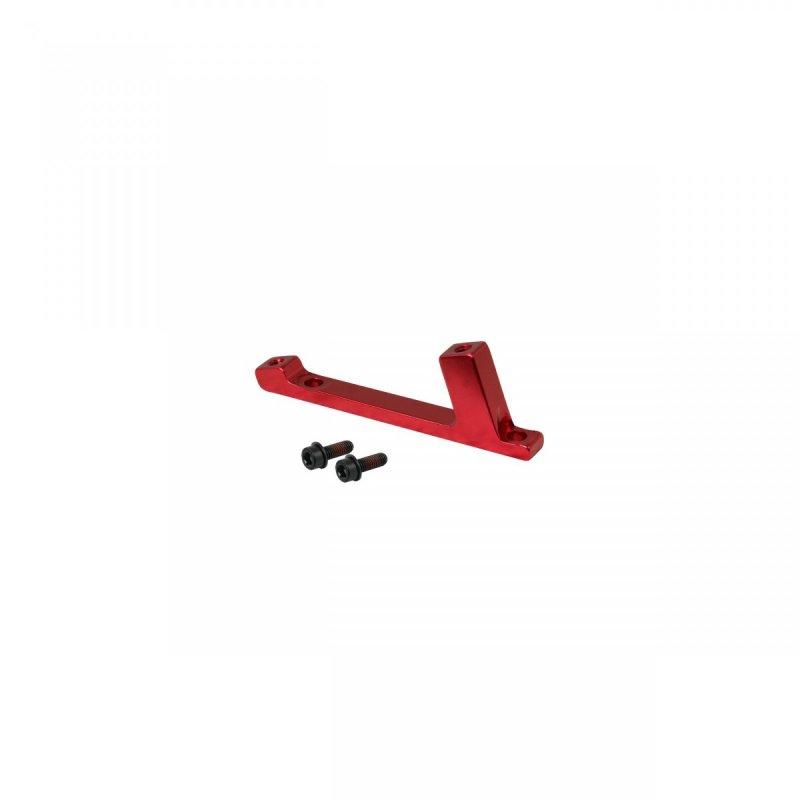 adaptér přední FORCE POST/ POST 180mm, červený