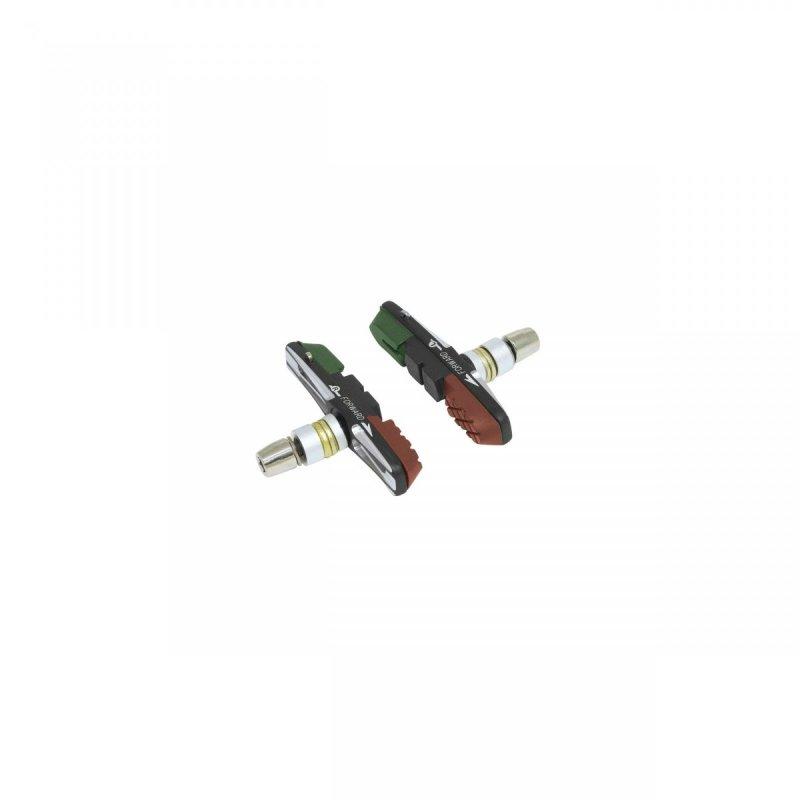 gumičky brzd F výměnné CNC,zeleno-černo-hnědá 70mm