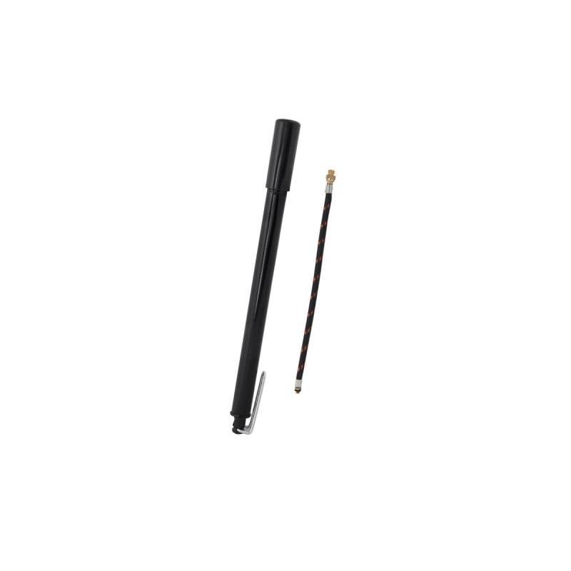 hustilka kovová s patkou, černá s MOTO hadičkou