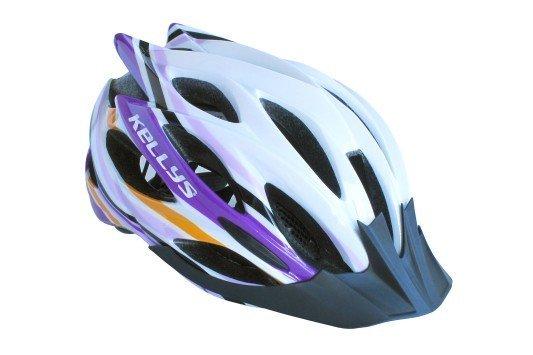 Přilba Dynamic white-alpine purple