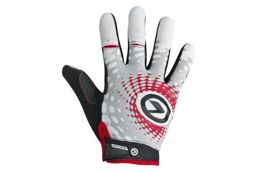 Rukavice IMPACT long white-grey-red