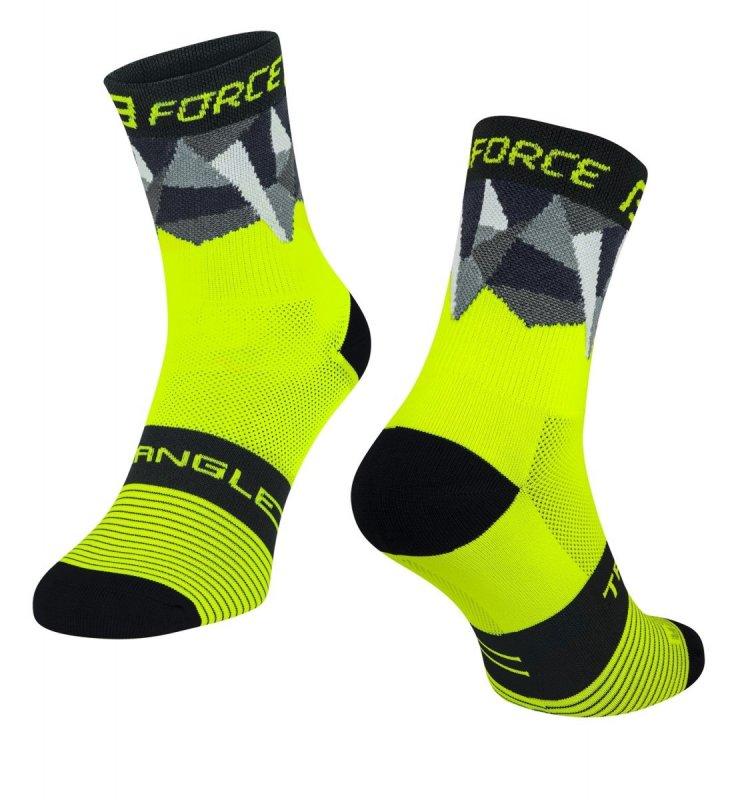 ponožky FORCE TRIANGLE, černo-tyrkysové