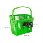 košík plastový na řídítka KLICK FIX, zelený