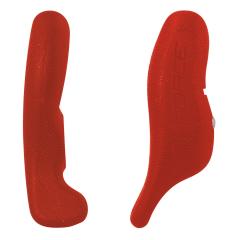 rohy FORCE RAB Al 12 cm AL+guma, červené