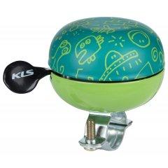 KELLYS Cyklistický Zvonek Bell 60 Doodles zelený