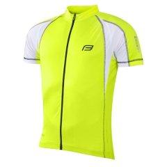 dres FORCE T10 krátký rukáv, fluo-bílý