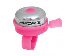 zvonek FORCE KLASIK Fe/plast 22,2mm, růžový