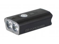 světlo přední FORCE DIVER 900 LM, USB, černé