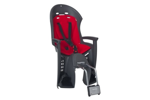 sedačka HAMAX SMILEY zadní tmavě šedá/červený
