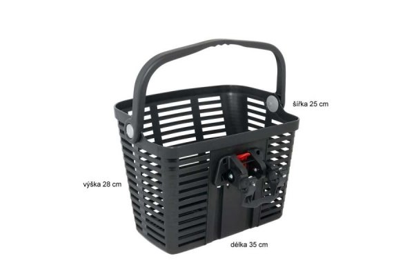 košík plastový na řídítka KLICK FIX, černý