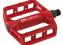 pedály FORCE BMX HOT hliníkové, červené