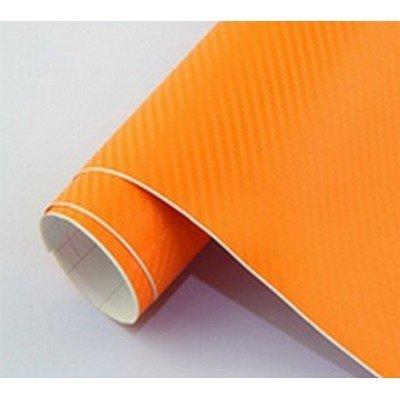 3D karbónová folia oranžová (š.1,27m)