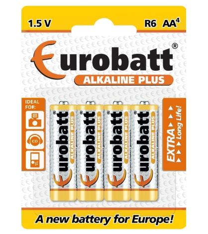 Eurobatt Baterie LR6 Alkaline Plus AA 4 ks