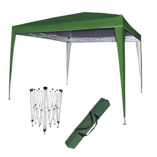 Kerti összecsukható olló sátor Party 3x3m, zöld