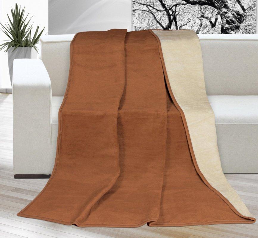 Brotex Deka Kira PLUS jednolůžko 150x200cm hnědá/béžová