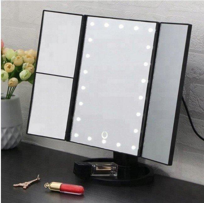 Kozmetické zrkadlo s LED osvetlením 22 LED + Zoom