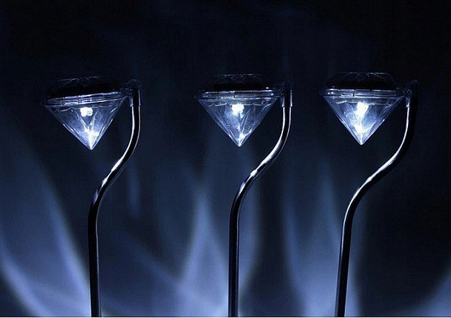 Napelemes lámpa DIAMOND 2 LED RGB többszínű 4 db