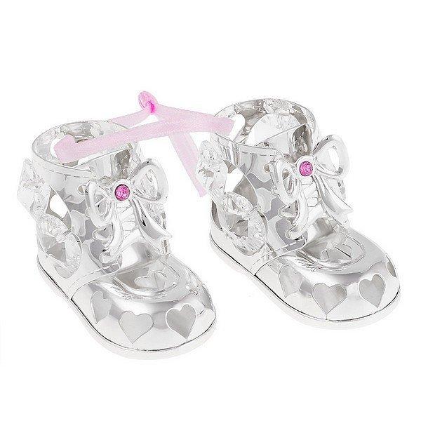 Lány ezüstözött Swarovski cipő