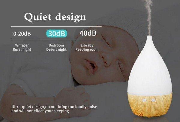 Ultrahangos aroma diffúzor lámpával 30 ml