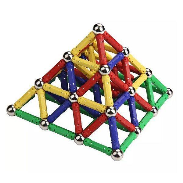 Magnastix mágneses összerakó játék 157 db-os készlet