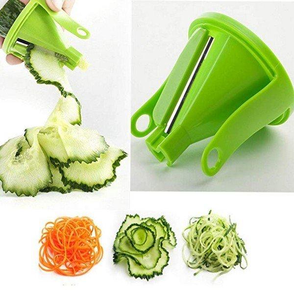 Spirál forgó zöldség szeletelő