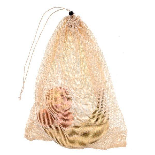 Gyapotból készült zacskó gyümölcsre és zöldségre 35x45 cm