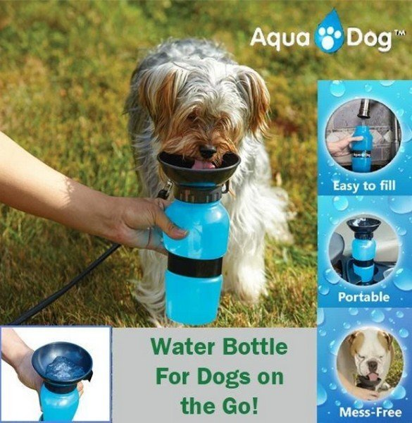 Vízpalack itatótállal kutyáknak Aqua Dog 500 ml