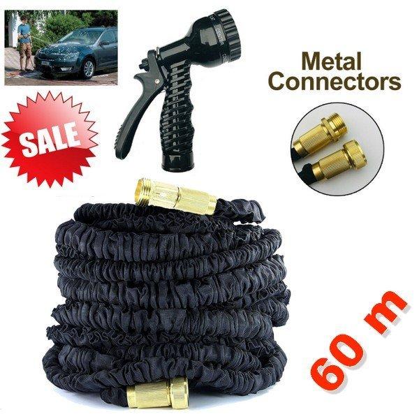Monster flexibilní zahradní hadice 60 m + kovové spojky