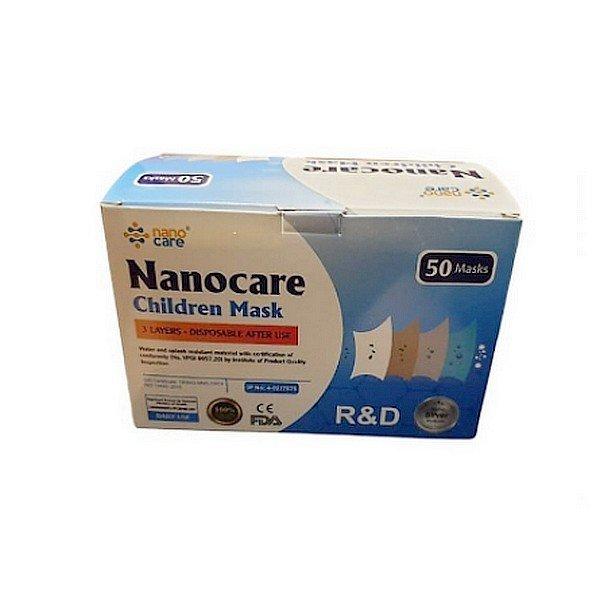 Higiénikus gyermek szájmaszk NanoCare 10 db