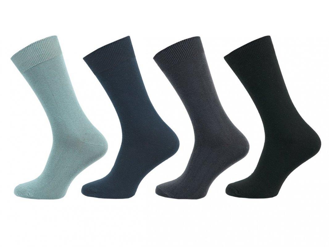 NOVIA 1064 Pánské ponožky Klasik 100% bavlna 5 párů 27-28