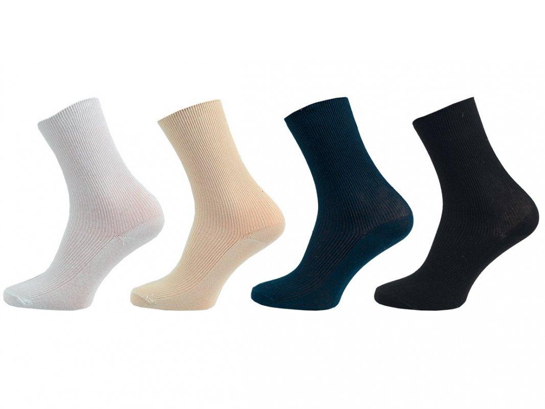 NOVIA Dámské ponožky Klasik – 100% bavlna 5 párů 24-25