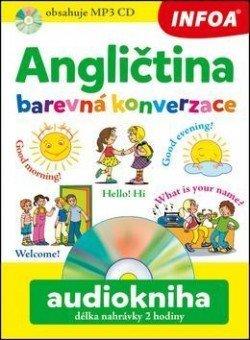 Audiokniha - Angličtina - Barevná konverzace + mp3 CD