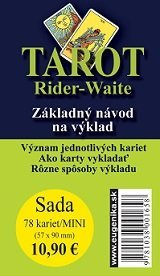 Karty - Tarot Rider Waite/mini/SK (karty + brožúrka) Edward Arthur Waite