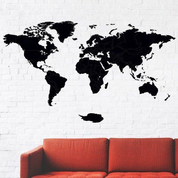 Dřevěná mapa na stěnu 130 x 75 cm