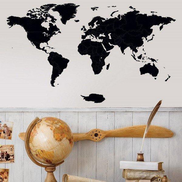 Luxusní dřevěná mapa na stěnu XL 156 x 90 cm