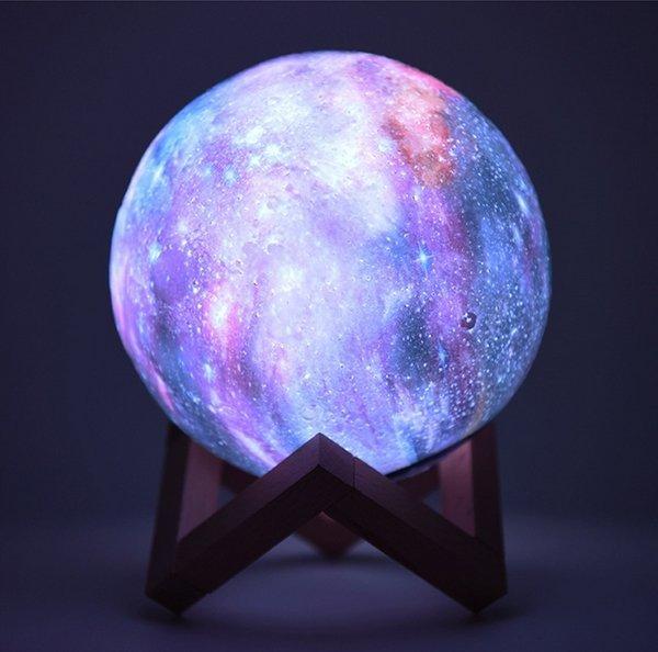 3D Lampička Mesiac RGB 16 farieb