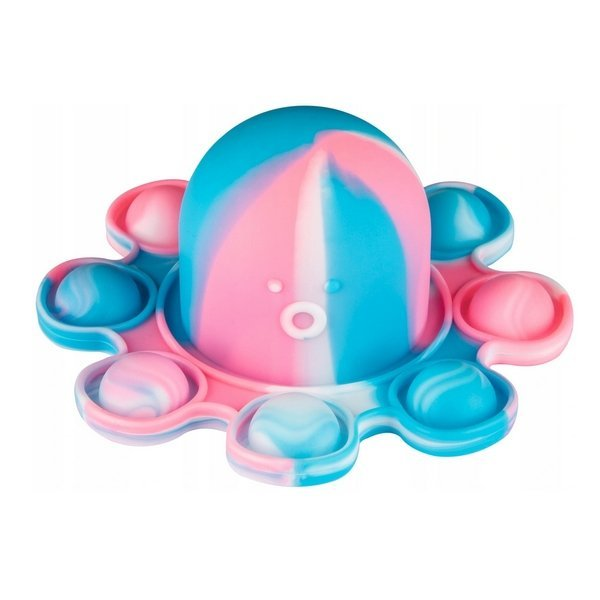 Antistresová hračka Pop it chobotnica obojstranná MIX farieb
