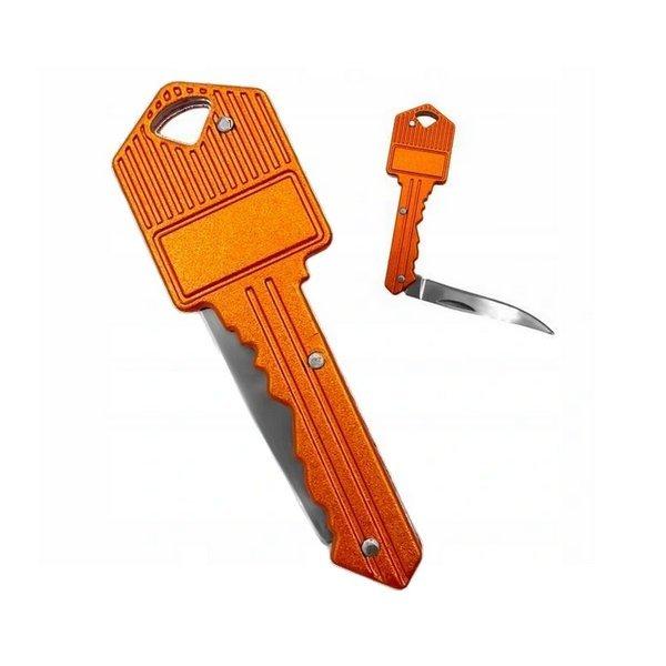 Přívěsek na klíče - Klíč s kapesním nožem + Možnost GRAVÍROVÁNÍ
