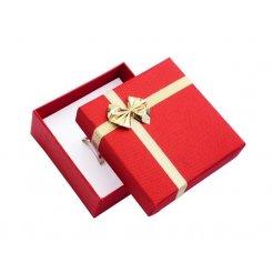 Papírová dárková krabička červená 80 x 80 mm