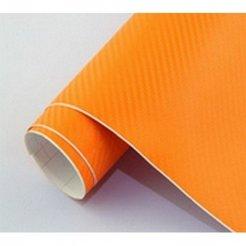 3D karbonová folie oranžová (š.1,27m)