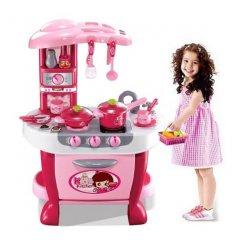 Detská kuchynka Matex Toys veľká s príslušenstvom ružová