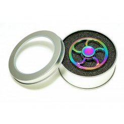 Fidget Spinner Fire Wheel Rainbow