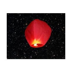 Lampión ŠTĚSTÍ červený